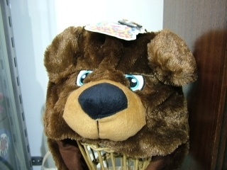 Twitch Hat with moving ears - brown bear