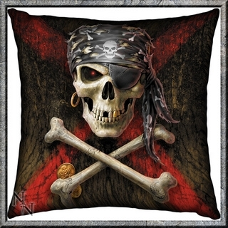 Pirate Skull Cushion - Anne Stokes design