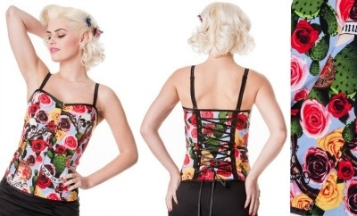 Hell Bunny Cancun Corset Top