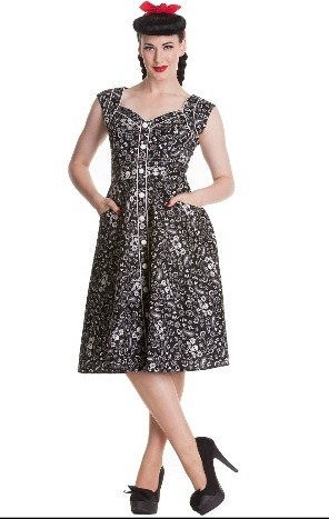 Hell Bunny Colorado Dress (black)