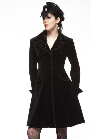 Hell Bunny / Spin Doctor Dandy Coat - Plus Size