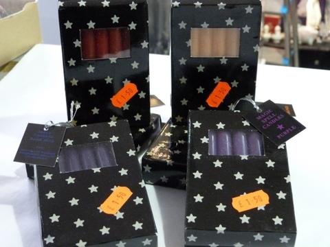 Magic Spell Candles - Purple, Red, Blue, Orange
