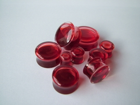 Body Jewellery Ear Plugs - Blood Globes 8 10 12mm