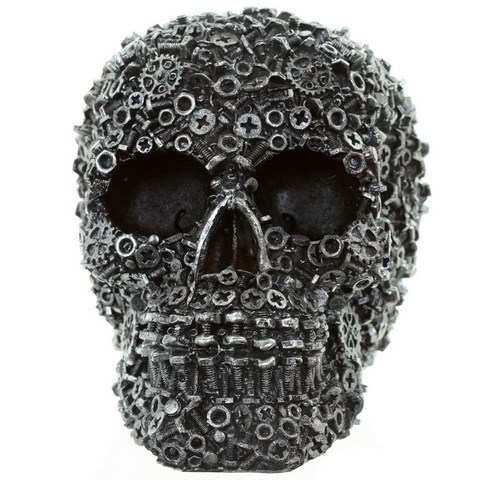 Skull with Nuts, Bolts & Screws