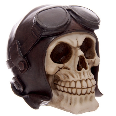 Skull with Flying Goggles - Money Bank