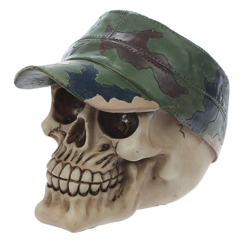 Skull with Camouflage Cap