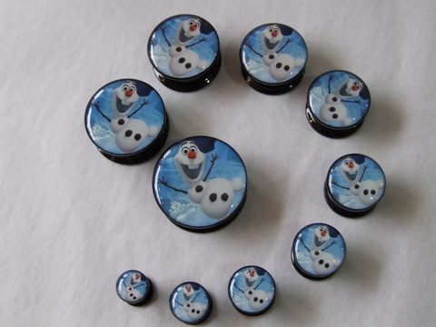 Body Jewellery - Acrylic Ear Plug Olaf (Frozen)