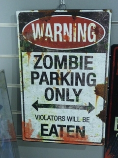 Tin Sign - Zombie Parking