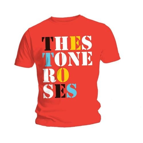 Stone Roses Font Logo Mens Red T Shirt