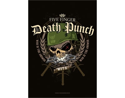 Five Finger Death Punch textile poster flag - Warhead